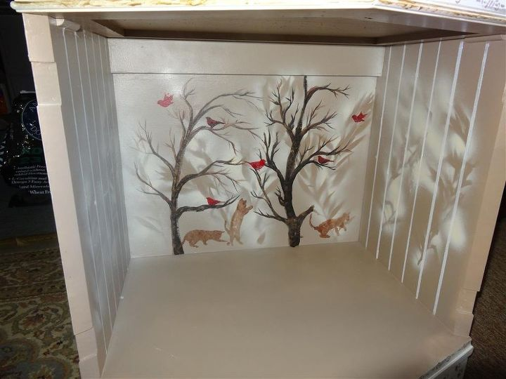 side tables into a cat tree, painted furniture