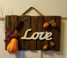 make a quick easy fall sign , crafts, flowers, seasonal holiday decor