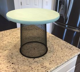 Trash To Treasure Patio Tables, Home Improvement, Painted Furniture, Trash  Can And Wood