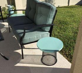 Trash To Treasure Ideas Home Decor Part - 49: Trash To Treasure Patio Tables, Home Improvement, Painted Furniture,  Finished Tables Outside On