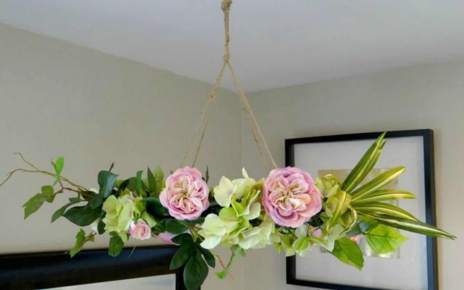 s why everyone is buying artificial flowers for the holidays, gardening, They make a beautiful chandelier