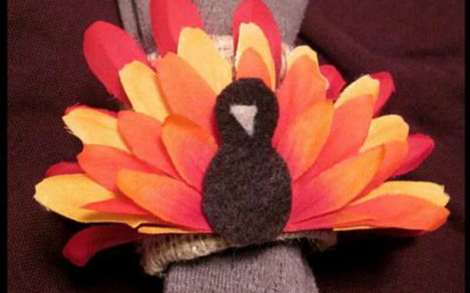 s why everyone is buying artificial flowers for the holidays, gardening, They can turn into turkey napkin holders