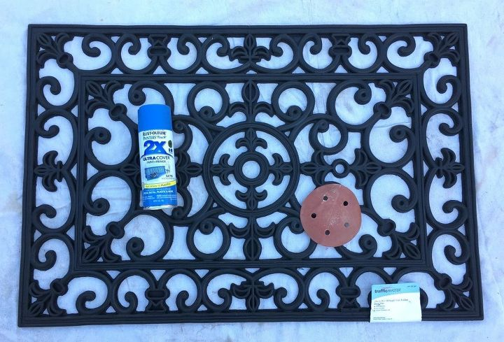 rubber door mat wall decor, doors, home decor, wall decor