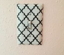 updated switch plate, how to, wall decor