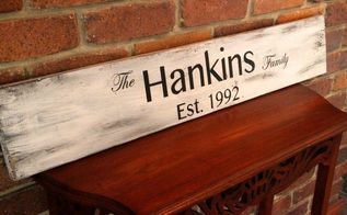 how to make a family name sign using old wood graphite paper, crafts, how to
