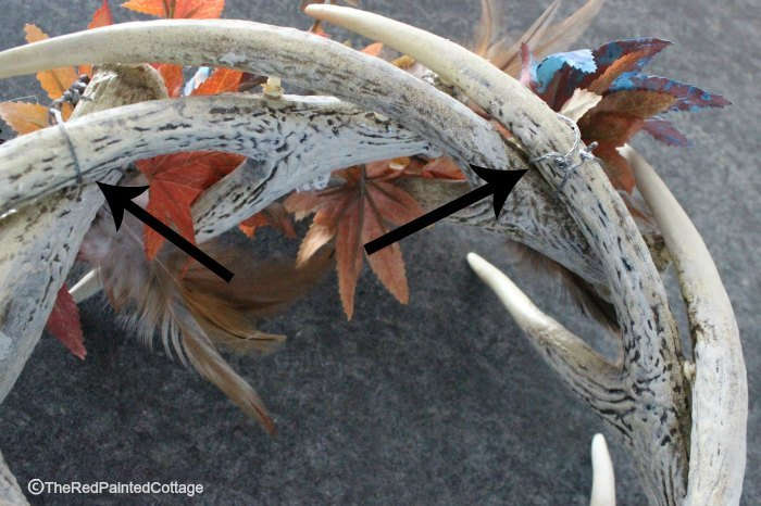 how to decorate a faux antler wreath for seasons throughout the year, crafts, how to, seasonal holiday decor, wreaths