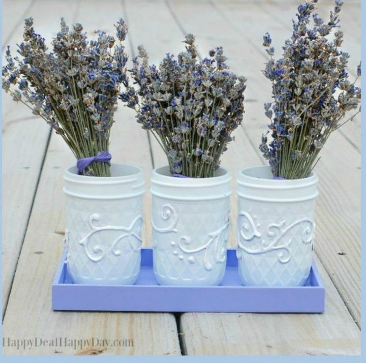 s don t throw out that used jar before you see these countertop ideas, countertops, Turn them into a vase for kitchen flowers