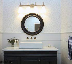 A Stenciled Bathroom Makeover Using The Kerala Allover Pattern Hometalk