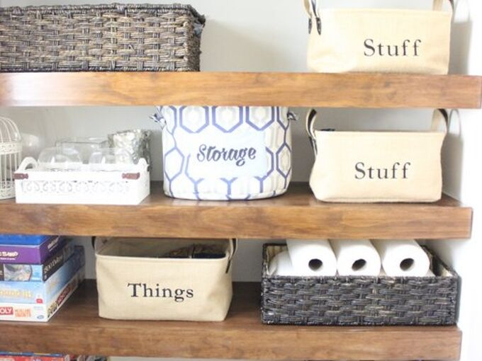 diy covers for wire shelving, bathroom ideas, closet, organizing, shelving ideas, woodworking projects