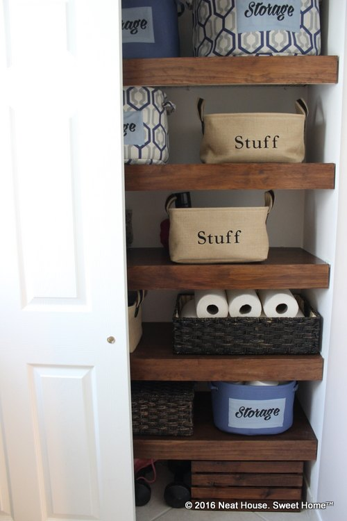 Diy Covers For Wire Shelving Bathroom Ideas Closet Organizing