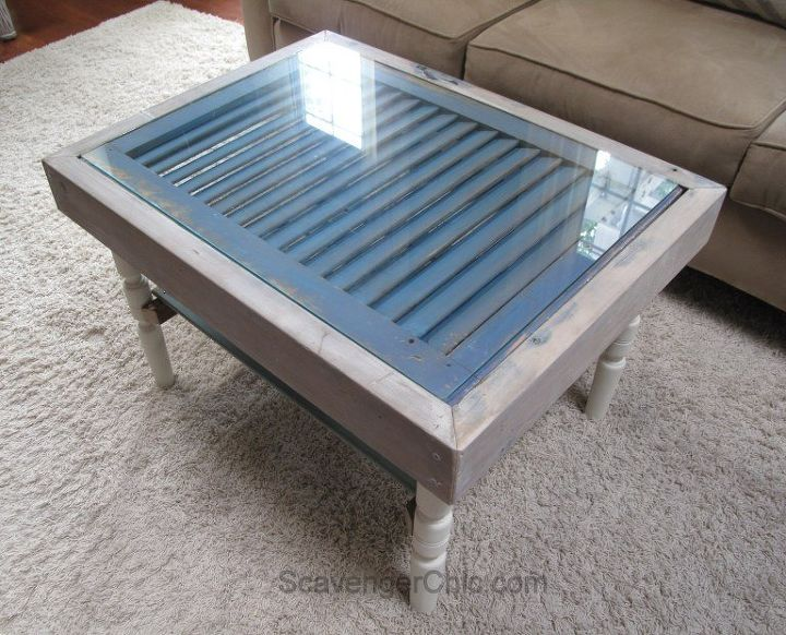 shutter and slats coffee table, curb appeal, painted furniture, repurposing upcycling, shabby chic, woodworking projects