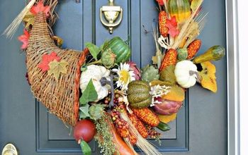 Make a Cornucopia Fall Wreath