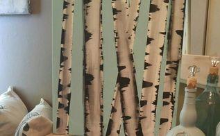 diy fun challenge birch log painting, gardening