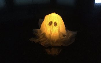 Easy Halloween Light Up Ghost Craft!  (2 Options)