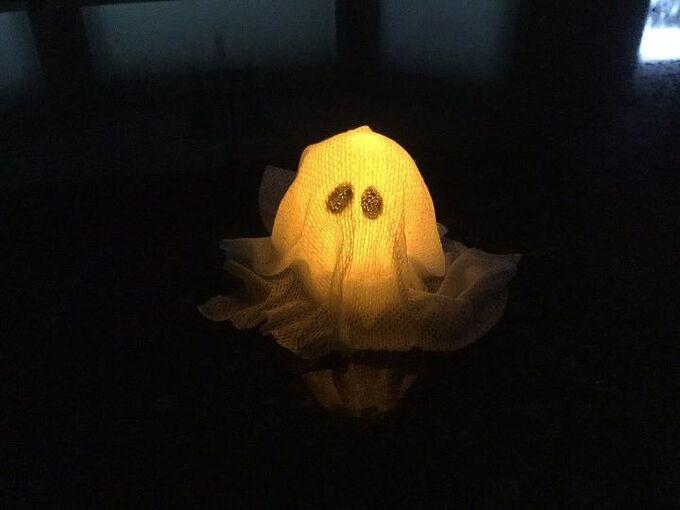 easy halloween light up ghost craft 2 options , crafts, decoupage, halloween decorations, seasonal holiday decor