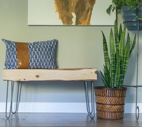 Rustic Modern Diy Hairpin Leg Wood Bench, Outdoor Furniture, Rustic  Furniture, Woodworking Projects