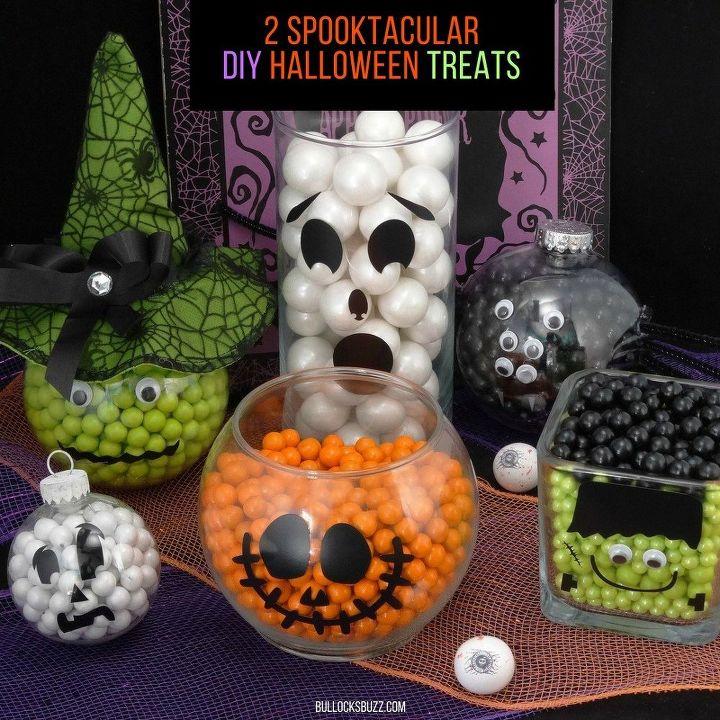 spook tacular candy filled halloween treats tutorial, halloween decorations, how to, seasonal holiday decor