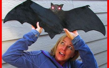 wood bat decoration diy project craft klatch halloween series , crafts, halloween decorations, seasonal holiday decor