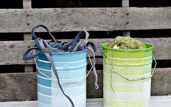 Make Free Storage by Upcycling Your Empty Paint Cans With Paint Chips
