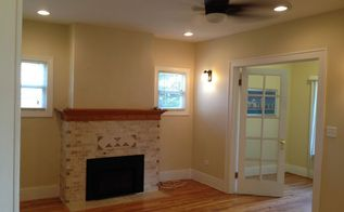 new face for an old fireplace, fireplaces mantels, Finished fireplace is a focal point now