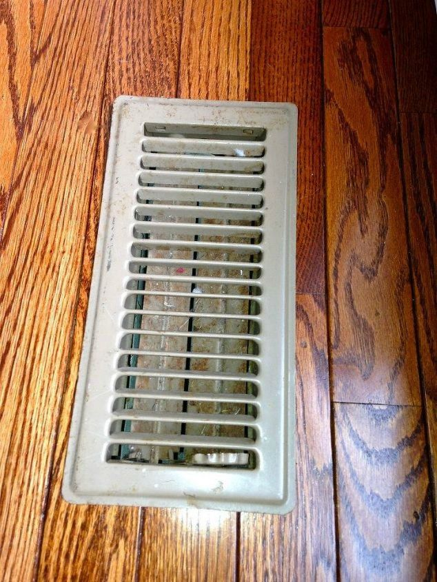 s hide your ugly vent with these 7 brilliant ideas, hvac, The problem Old and dingy floor vents