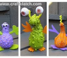gourd aliens halloween diy project, crafts, halloween decorations, seasonal holiday decor