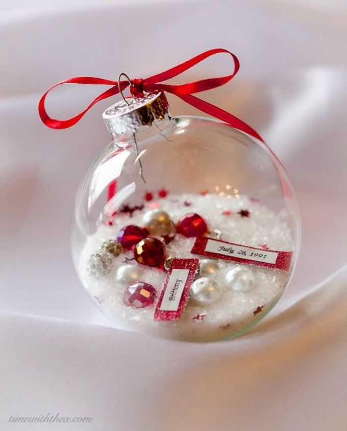 s you might rethink your tree when you see these breathtaking ornaments, christmas decorations, seasonal holiday decor, This birthday one filled with jewelry beads