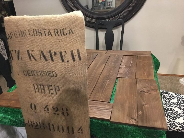 Rustic Burlap Toy Box Bench Hometalk