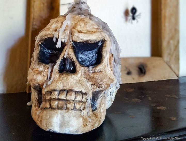 make a spooktacular skull for halloween, crafts, halloween decorations, seasonal holiday decor