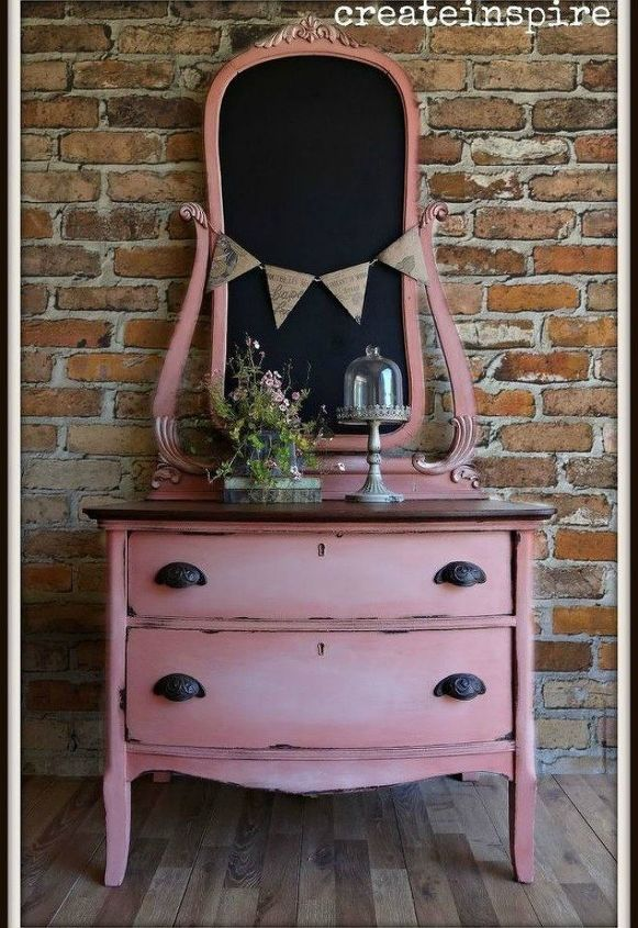 s i hate pink but these makeovers changed my mind , This chest of drawers with a faded pink