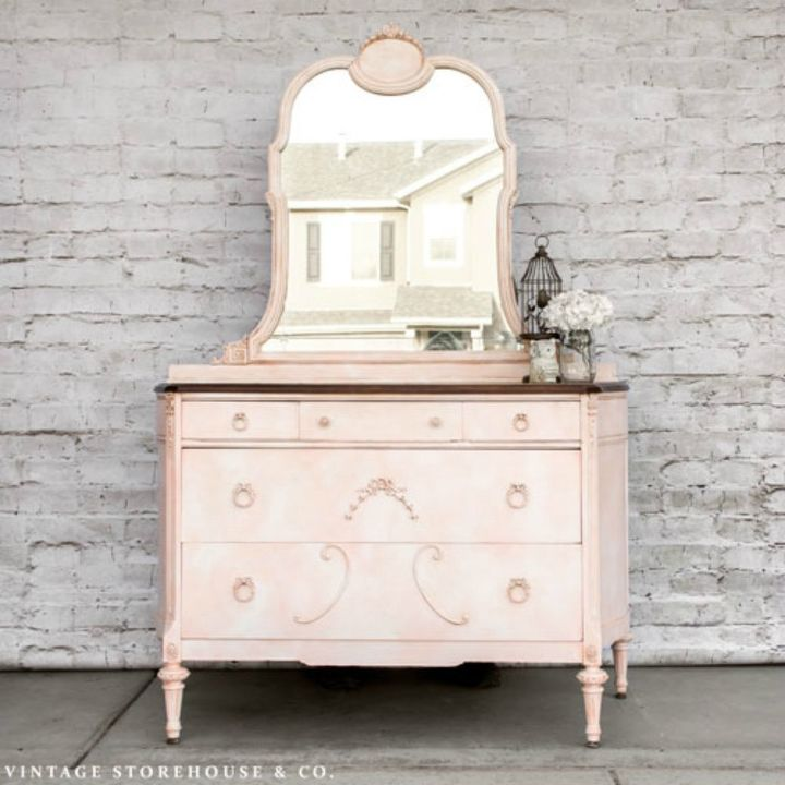 s i hate pink but these makeovers changed my mind , This royal marbled pink dresser