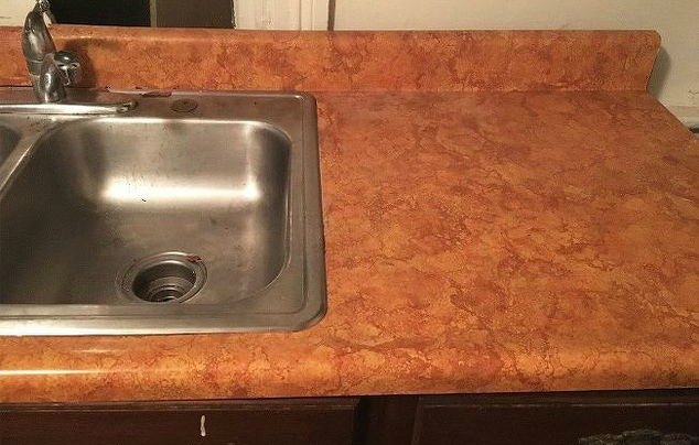 paint hometalk stone chalkboard how improvement remodel laminate to a remodeled home like cheap look countertop countertops