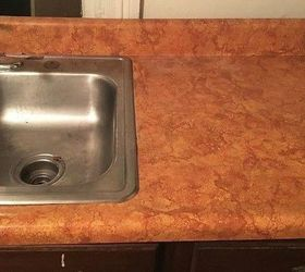 Superior Remodeled Laminate Countertop To Look Like Stone, Chalkboard Paint,  Countertops, Home Improvement,