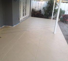 Elegant Patio Floor Makeover Painted Patio Floor To Look Like Tile , Flooring,  Outdoor Living,