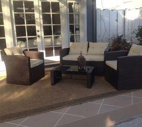 Patio Floor Makeover Painted Patio Floor To Look Like Tile , Flooring,  Outdoor Living,