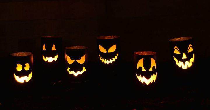 diy halloween luminaries, crafts, halloween decorations, seasonal holiday decor