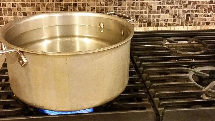 Let's start by adding water to the pot