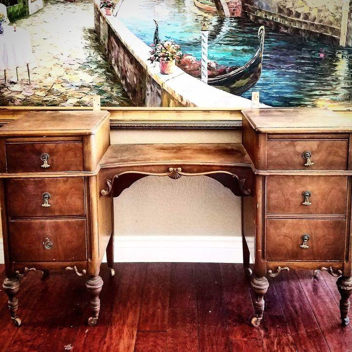 old barn milk paint antique vanity, painted furniture, painting, rustic furniture