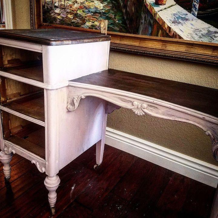 old barn milk paint antique vanity, painted furniture, painting, rustic  furniture - Old Barn Milk Paint + Antique Vanity Hometalk