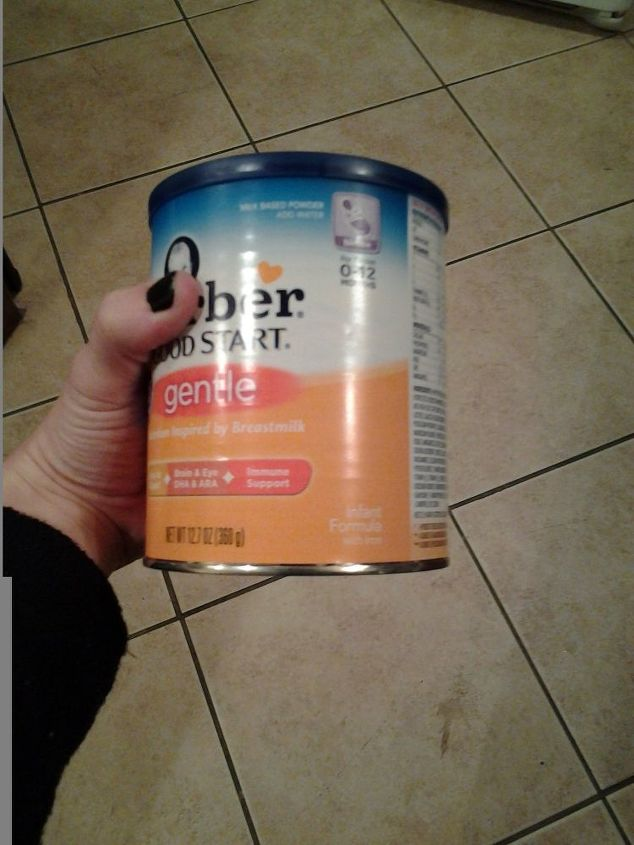 q reuse formula cans, repurpose household items, repurposing upcycling
