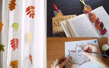 easy fall crafts with laminated leaves, crafts