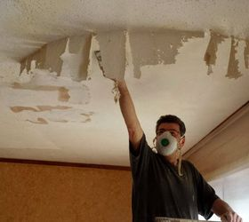 Dining Room Project Remove Popcorn Ceiling, Home Improvement, How To,  Painting, Wall