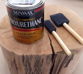 How To Make A Tree Stump Side Table With Diy Legs, How To, Painted