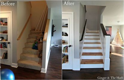 Diy Staircase Remodel Hardwood Floors Home Improvement Stairs Woodworking Projects