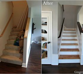 Bon Diy Staircase Remodel, Hardwood Floors, Home Improvement, Stairs,  Woodworking Projects