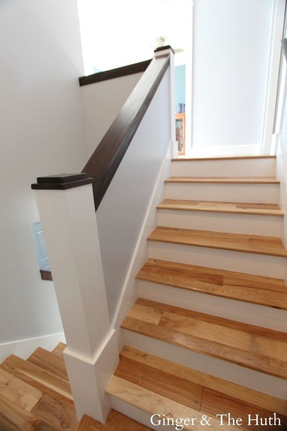 diy staircase remodel, hardwood floors, home improvement, stairs, woodworking projects