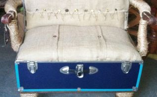 a trunk to park your trunk , crafts, home decor, how to, painted furniture, repurposing upcycling, reupholster, woodworking projects