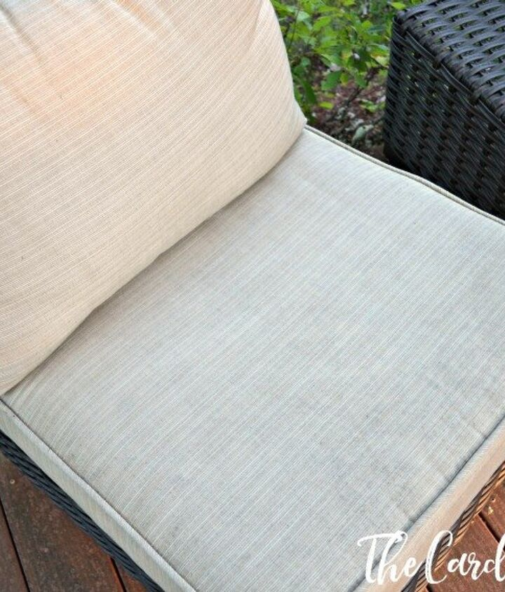 how to clean your patio cushions easily, cleaning tips, how to, outdoor furniture, outdoor living, patio