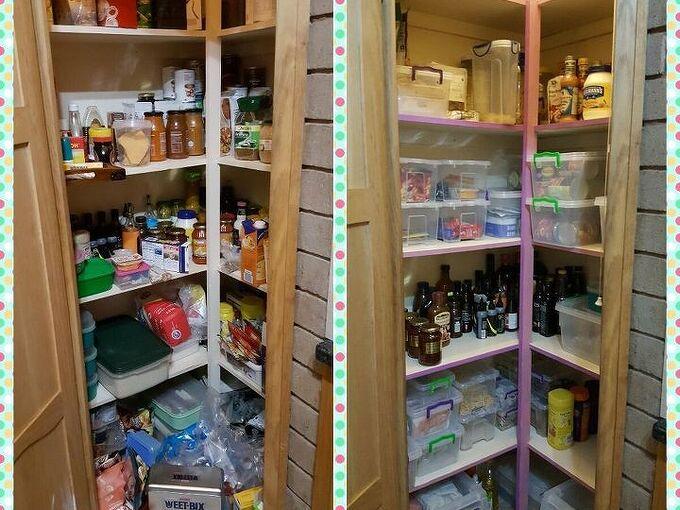pantry cupboard revamp, closet