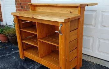 diy mobile outdoor bar, outdoor furniture, outdoor living, woodworking projects
